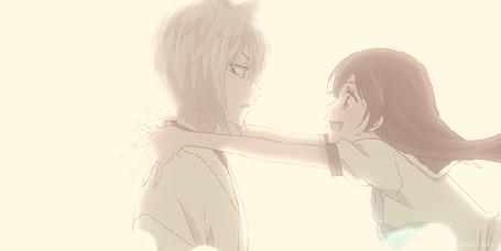 Анимация Томоэ / Tomoe и Нанами Момодзоно / Nanami Momodzono из аниме Очень приятно, Бог / Kamisama Hajimemashita