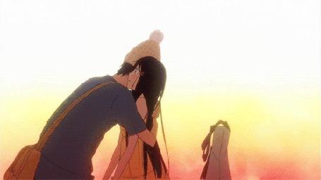 Анимация Куронума Савако / Kuronuma Sawako и Shouta Kazehaya / Сета Кадзэхая из аниме Kimi ni Todoke / Дотянуться до тебя