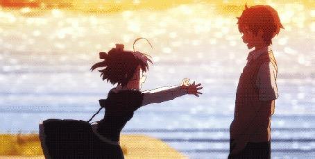 Анимация Рикка Таканаши / Rikka Takanashi и Юта Тогаши / Yuuta Togashi из аниме Чудачества любви не помеха! / Chuunibyou demo Koi ga Shitai!