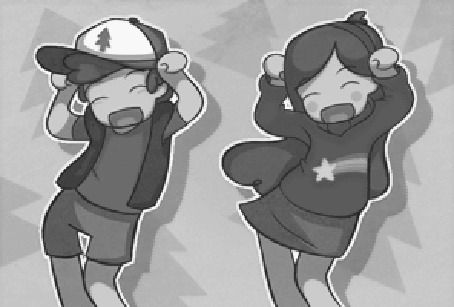 Анимация Mabel Pines / Мэйбл Пайнс и Dipper Pines / Диппер Пайнс из мультсериала Gravity Falls / Гравити Фолз в танце, by heeyjayp17