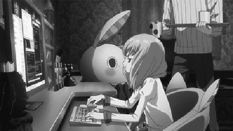 Анимация Hiro Tsukiyama / Хиро Цукияма из аниме Blood-C: The Last Dark / Кровь-C: Последняя тьма