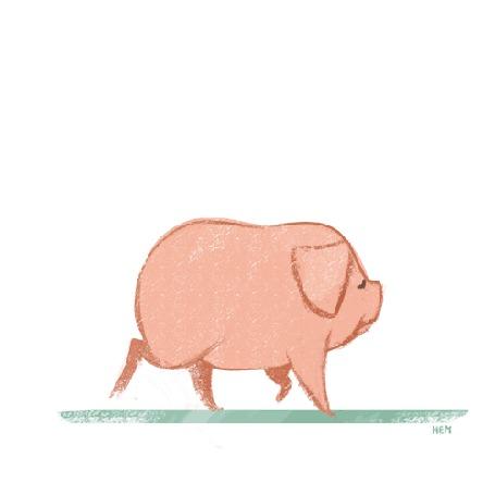 тому значительную гифка довольная свинья угловатый художественный стиль