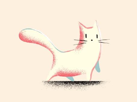Анимация Кошка куда-то идет