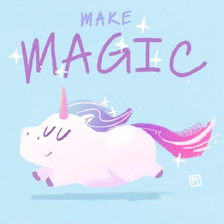 Анимация Бегущий единорог (Make magic / Делай магию), by Ryan Shaw