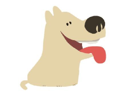 Анимация Собака с высунутым языком