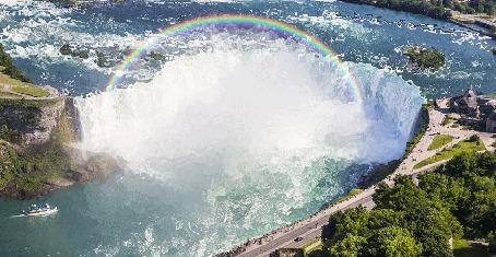 Анимация Водопад красивый для релаксации и повышения умственных способностей