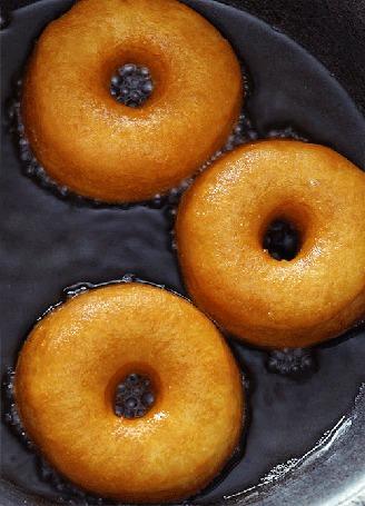 Анимация Пышные сладкие пончики