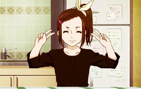 Анимация Kaede Kaburagi / Каэдэ Кабураги из аниме Tiger & Bunny / Тигр и кролик