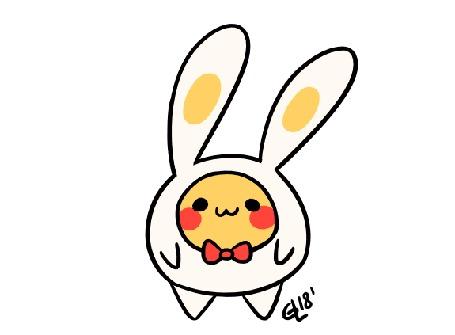 Анимация Пикачу / Pikachu в костюме зайчика, by Guia Longasa