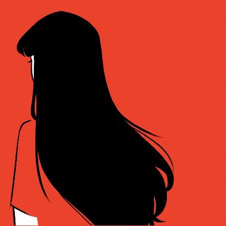Анимация Девушка с длинными черными волосами, by Joey Navarro