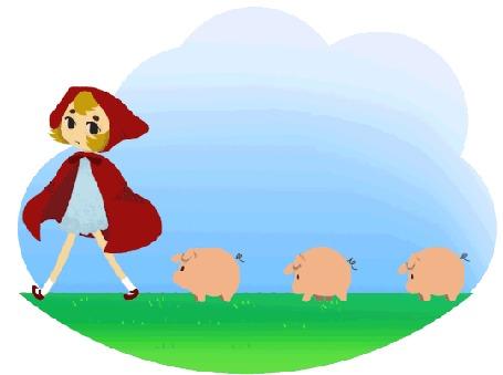 Анимация Красная шапочка / Red Riding Hood с тремя поросятами, by Jessica Sinnema