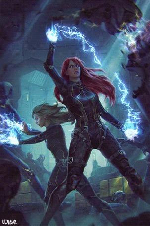 Анимация В стенах научно-исследовательского центра, в не наши дни, в далеком будущем, развернулось сражение между киборгами и двумя девушками-воинами, которые испускали молнии из своих рук, обладавшими сверхспособностями и магией