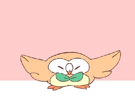 Анимация Rowlet / Роулет из аниме Pokemon / Покемон