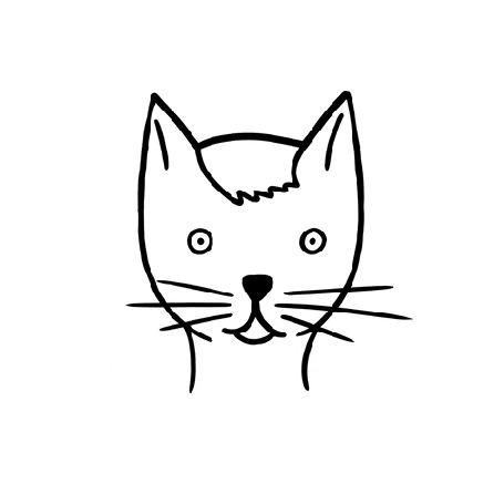 Анимация Ножницы подстригают усы коту