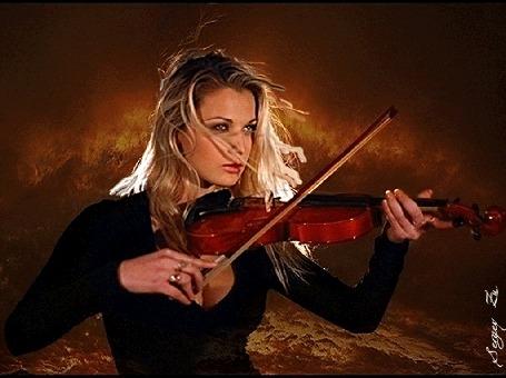 Конкурсная работа Девушка играет на скрипке