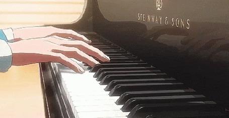 Анимация Парень играет на рояле