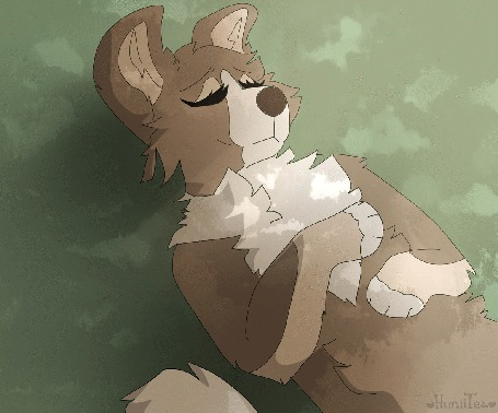 Анимация Мирно спящая собака, от HuniiTea
