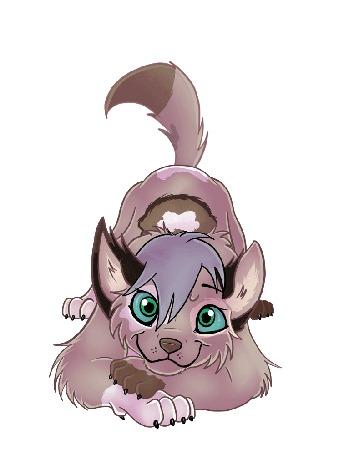 Анимация Голубоглазый серый волк, by Zoba22