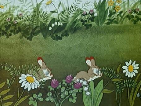 Анимация Прыгающие два кролика, мультфильм Живая игрушка