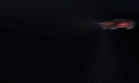 Анимация Из клубов пыли спортивного автомобиля возникает фраза С Пятницей