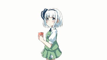 Анимация Youmu Konpaku / Ему Компаку из игры-аниме Touhou Project / Проект Восток
