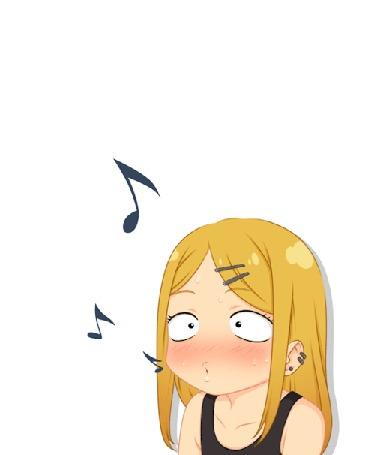 Анимация Saya Endou / Сая Эндо из аниме Dagashi Kashi / Магазинчик сладостей