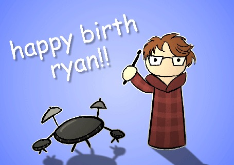 Анимация Парень стучит в барабан (happy birth ryan!), by theIcecolo