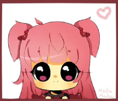 Анимация Чибик с розовыми волосами, by MechanicMocha