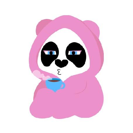 Анимация Панда с кружкой
