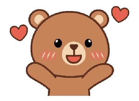 Анимация Медвежонок посылает воздушные поцелуи
