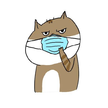 Конкурсная работа Медицинская маска бьет кота по глазам