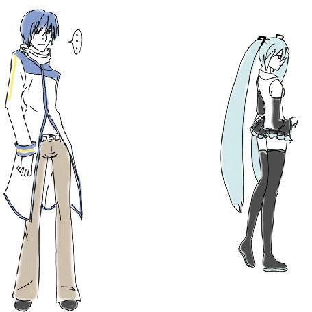 Анимация Vocaloid Kaito / Вокалоид Кайто и Vocaloid Hatsune Miku / Вокалоид Хацуне Мику, by Next-LVL