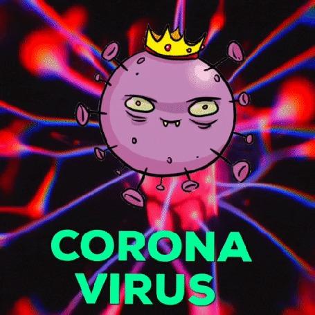 Анимация Коронавирус в короне (CORONA VIRUS) by Squirrel Monkey