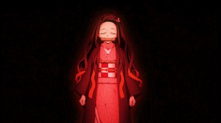 Анимация Nezuko Kamado / Нэдзуко Камадо из аниме Kimetsu no Yaiba / Клинок, рассекающий демонов