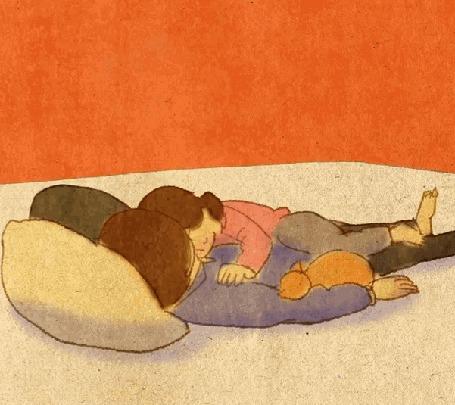 Анимация Спящие парень с девушкой