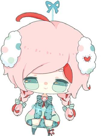 Анимация Чибик с розовыми волосами, by zomgO3O